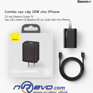 bây củ sạc iphone + dây sạc iphone 12 20W